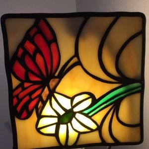 Cute little handmade stained glass panel.